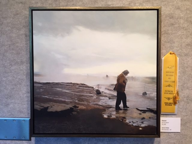 Jaron Childs (Rhinelander, WI), Geyser, oil on panel