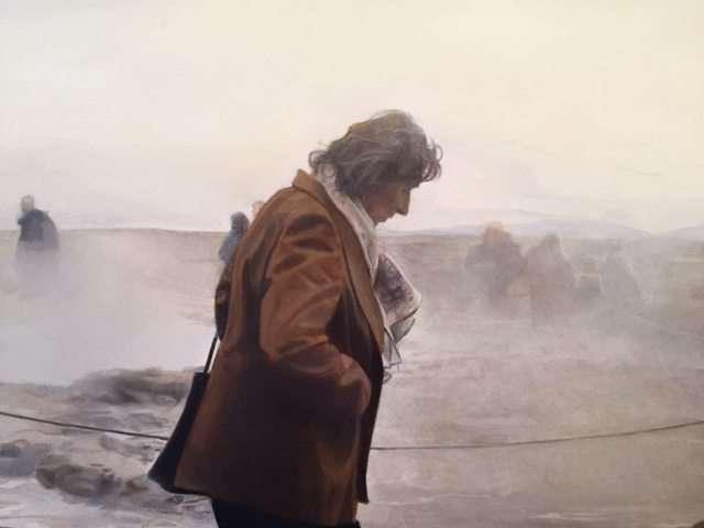 Detail ofGeyser,oil on panel, by Jaron Childs, Rhinelander, WI