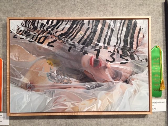 Chris Valle (Tampa, FL), Strip Loin (Packaged Series), oil on panel
